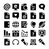 Icônes 3 de vecteur de communication Photos libres de droits