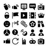Icônes 7 de vecteur de communication Photos stock