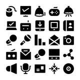 Icônes 12 de vecteur de communication Image stock