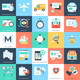 Icônes 5 de vecteur de concepts d'affaires Photographie stock libre de droits