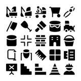 Icônes 12 de vecteur de construction Image libre de droits