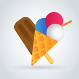 Icônes de vecteur de crème glacée réglées Photographie stock