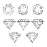 Icônes de vecteur de diamant réglées Photo libre de droits
