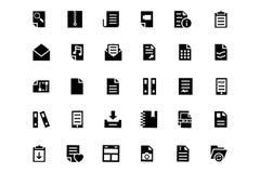 Icônes 4 de vecteur de documents Images stock
