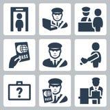 Icônes de vecteur de douane illustration de vecteur
