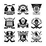 Icônes 20 de vecteur de Glace-hockey Image libre de droits