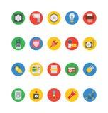 Icônes 5 de vecteur de l'électronique Image libre de droits