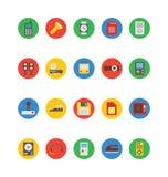 Icônes 6 de vecteur de l'électronique Image stock