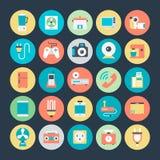 Icônes 4 de vecteur de l'électronique Photo stock