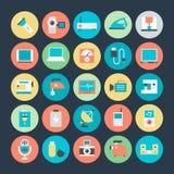 Icônes 3 de vecteur de l'électronique illustration stock