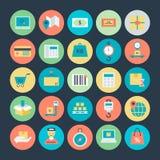 Icônes 3 de vecteur de la livraison de logistique Photos libres de droits