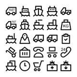 Icônes 1 de vecteur de la livraison de logistique Image libre de droits