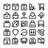 Icônes 5 de vecteur de la livraison de logistique Photographie stock libre de droits