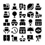 Icônes 6 de vecteur de la livraison de logistique Photos stock