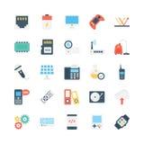Icônes 5 de vecteur de la science et technologie illustration stock