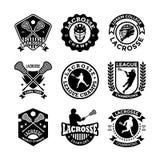 Icônes 22 de vecteur de lacrosse illustration stock