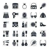 Icônes 2 de vecteur de mode et de beauté Photos stock