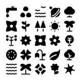 Icônes 8 de vecteur de nature Images stock