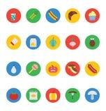 Icônes 10 de vecteur de nourriture Photos libres de droits