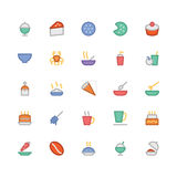 Icônes 13 de vecteur de nourriture Image libre de droits