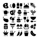 Icônes 3 de vecteur de nourriture Photos stock