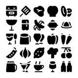 Icônes 7 de vecteur de nourriture Images stock
