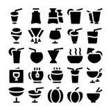 Icônes 8 de vecteur de nourriture Images libres de droits