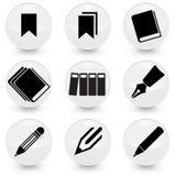 Icônes de vecteur de Pen Books Bookmarks illustration libre de droits