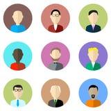 Icônes de vecteur de profil d'avatar Image stock
