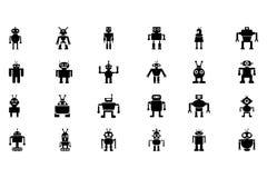 Icônes 2 de vecteur de robots Images stock