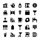 Icônes 87 de vecteur de services hôteliers Image libre de droits