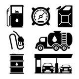 Icônes de vecteur de station service illustration libre de droits