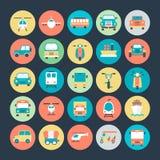 Icônes 3 de vecteur de transport illustration stock