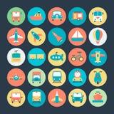 Icônes 1 de vecteur de transport illustration stock