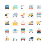 Icônes 2 de vecteur de transport illustration libre de droits