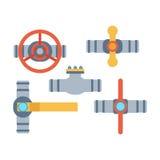 Icônes de vecteur de tuyaux Image stock