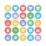 Icônes 14 de vecteur de vêtements Photographie stock libre de droits