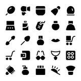 Icônes 16 de vecteur de vêtements Image stock