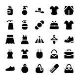 Icônes 9 de vecteur de vêtements Photographie stock