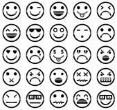 Icônes souriantes Image stock