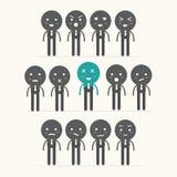 Icônes de vecteur des visages souriants, se sentant Images stock