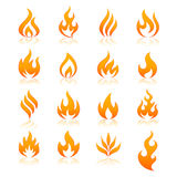 Icônes de vecteur du feu illustration stock