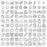 100 icônes de vecteur réglées Photo libre de droits