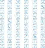 60 icônes de vecteur réglées Images libres de droits