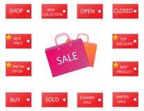 Icônes 2 de vente Photo stock