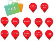 Icônes 3 de vente Image libre de droits
