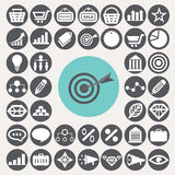 Icônes de vente réglées Photographie stock