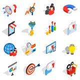 Icônes de vente réglées, style 3d isométrique illustration libre de droits