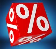 Icônes de ventes flottant dans le rendu de l'air 3D Images stock