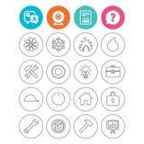 Icônes de ventilation, de chaleur et de climatisation Image libre de droits